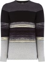 Diesel K-baccanalis Stripe Wool Mix Jumper