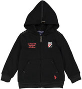 U.S. Polo Assn. Black 'USPA Since 1890' Sherpa-Lined Fleece Hoodie - Boys
