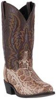 Laredo Western Boots Mens Snake Print Round Toe 10.5 D 68073