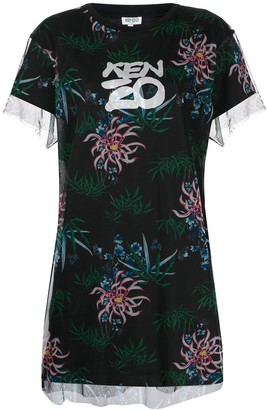 Kenzo Sea Lily-print T-shirt dress