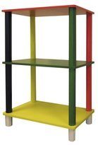 Ore International H-59 Kids' Primary-Color 3-Tier Shelves