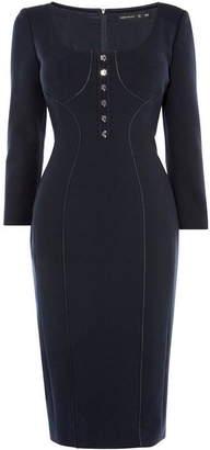 Karen Millen Contour-Panelling Dress