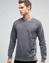 ONLY & SONS Striped Sweat with Dropped Hem