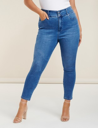 Forever New Monica Curve Full-Length Jeans - VIENNA BLUE - 22