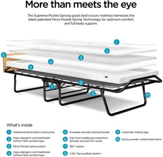 Jay-Be Supreme Automatic Folding Bed with Pocket Sprung Mattress