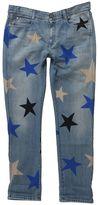 Stella McCartney Blue Skinny Boyfriend Jeans With Multicolor Stars