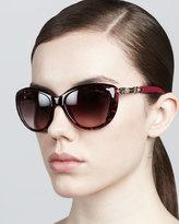 Jimmy Choo Wigmore Cat-Eye Chain-Arm Sunglasses, Havana Pink