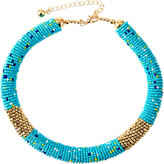 Fragments for Neiman Marcus Multicolored Seed Bead Choker Necklace, Turquoise