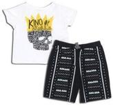 "Amy Coe King Of Skulls"" 2-Piece Shirt & Short Set"