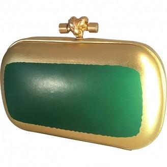 Bottega Veneta Pochette Knot Gold Leather Clutch bags