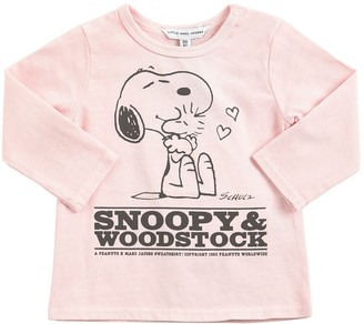 Little Marc Jacobs Snoopy Print Cotton Jersey T-Shirt