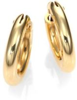 Roberto Coin 18K Yellow Gold Petite Oval Hoop Earrings/0.75