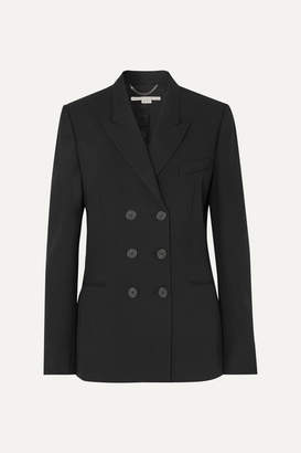 Stella McCartney Double-breasted Wool-twill Blazer - Black