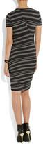DKNY City striped stretch-jersey dress