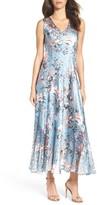 Komarov Women's Charmeuse & Lace Maxi Dress
