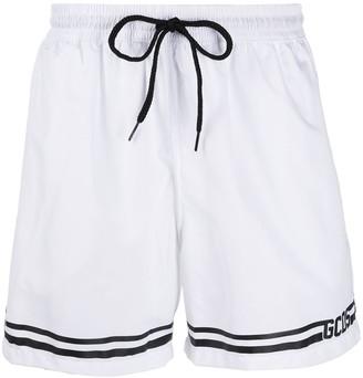 GCDS Striped Drawstring Shorts