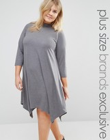 Junarose Roll Neck Jersey Dress