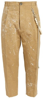 Song For The Mute Paint-Splattered Cropped Trousers