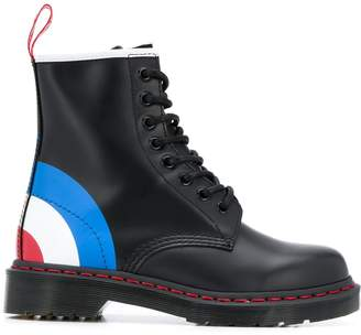 Dr. Martens bullseye print leather boots