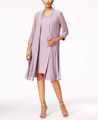 R & M Richards Embellished Dress & Duster Jacket