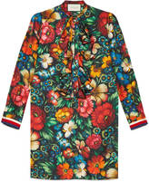Gucci Floral print silk dress