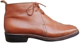 Hermes Leather lace up boots