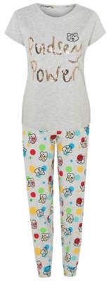 George Children in Need Pudsey Bear Grey Sequin Pyjamas