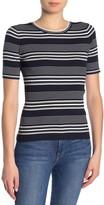 Frame Stripe Rib Knit Shirt