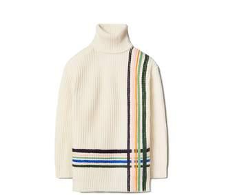 Merino Hand-Embroidered Turtleneck Sweater
