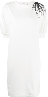 Brunello Cucinelli draped-Monili shift dress