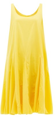 Rhode Resort Lalla Godet-pleat Cotton Dress - Yellow