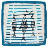 Prada Printed Silk Scarf w/ Tags