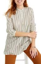 Madewell Wellspring Stripe Tunic Popover Shirt