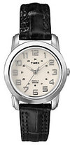 Timex Analog Watch with Cream Dial and LeatherStrap