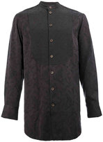 Song For The Mute l'Eclaireur x collarless shirt - men - Cupro/Viscose/Virgin Wool - 50