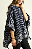 Umgee USA Hooded Poncho Tunic