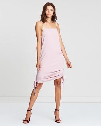 Atmos & Here Jenna Drape Front Mini Dress