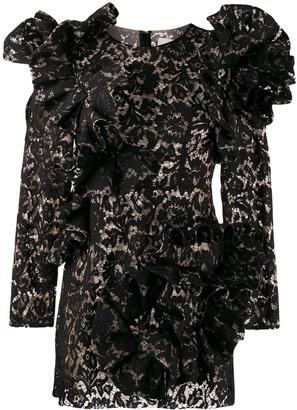 Loulou Ruffled Lace Dress