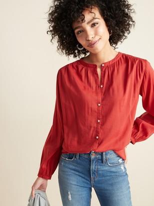Old Navy Oversized Smocked-Yoke Shirt for Women
