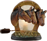 Rejuvenation Chalkware Radio Lamp w/ Trio of Horses C1940s