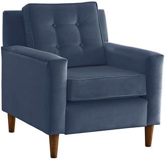 One Kings Lane Winston Club Chair - Blue Velvet