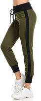 Celeste Olive Stripe Tie-Waist Joggers - Plus