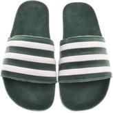 adidas Adilette Velvet Flip Flops Green