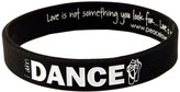 Peace Love World I am Dance Perfection Black Classic Silicone Bracelet