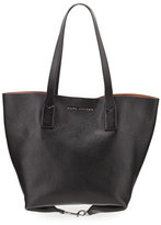 Marc Jacobs Wingman Leather Shopping Bag, Black/Cognac
