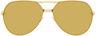 Bottega Veneta Gold Aviator Sunglasses