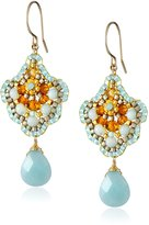 Miguel Ases Amazonite Single Drop Earrings