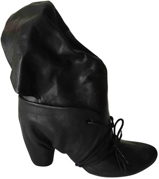 Marsèll Black Leather Ankle boots