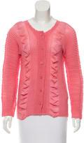Issey Miyake Textured Button-Up Cardigan