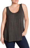 Susina Scoop Neck Tie Back Tank (Plus Size)